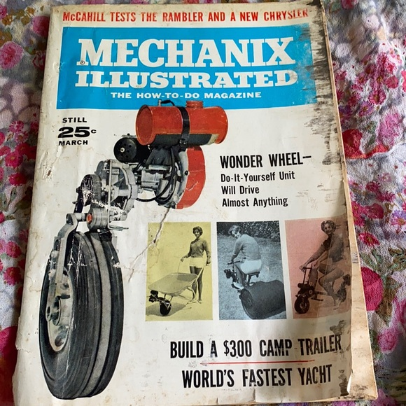 Vintage March 1962 Mechanix Illustrated Magazine